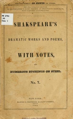 Shakespeare's dramatic works and poems by William Shakespeare