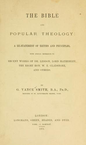The Bible and popular theology