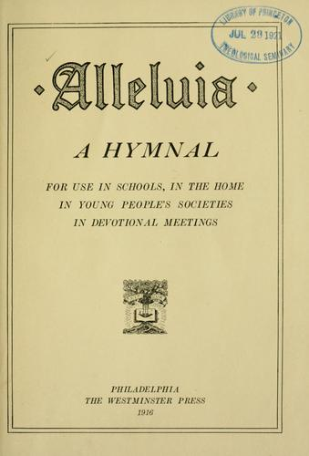 Alleluia by Presbyterian Church in the U.S.A.
